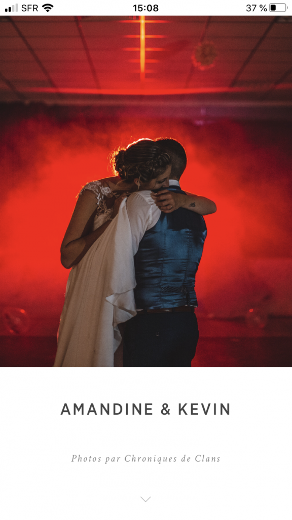 Première danse d'un couple durant leur mariage