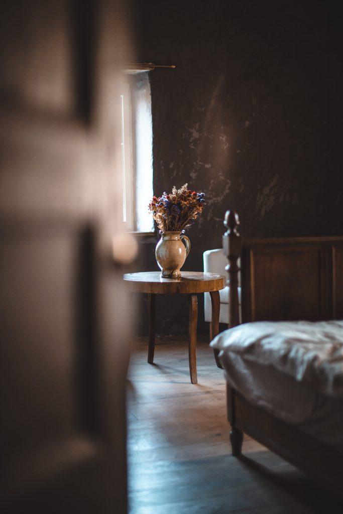 Ambiance douce d'une chambre du gite