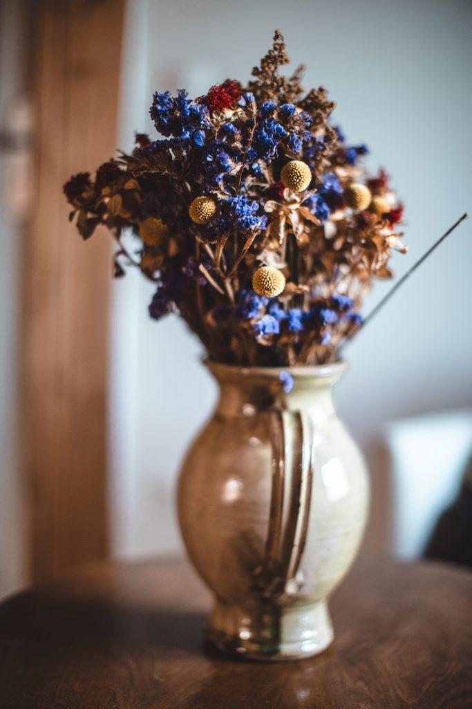 Pot de fleur séchées